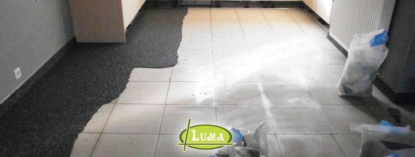 Renovatie van een vloer in epoxy