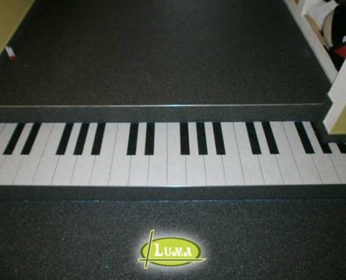 Epoxy vloer tekening piano